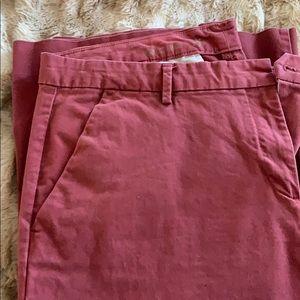14R Perfect Khaki burgundy pants